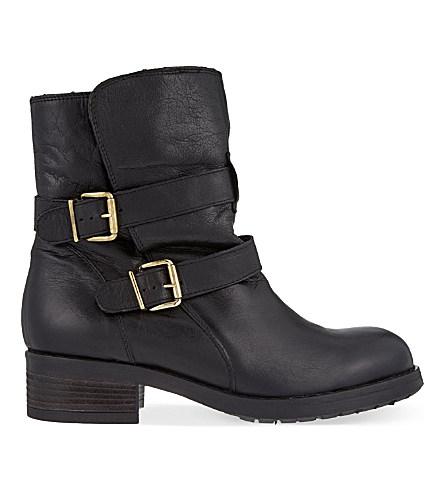Richmond Leather Ankle Boots, Black