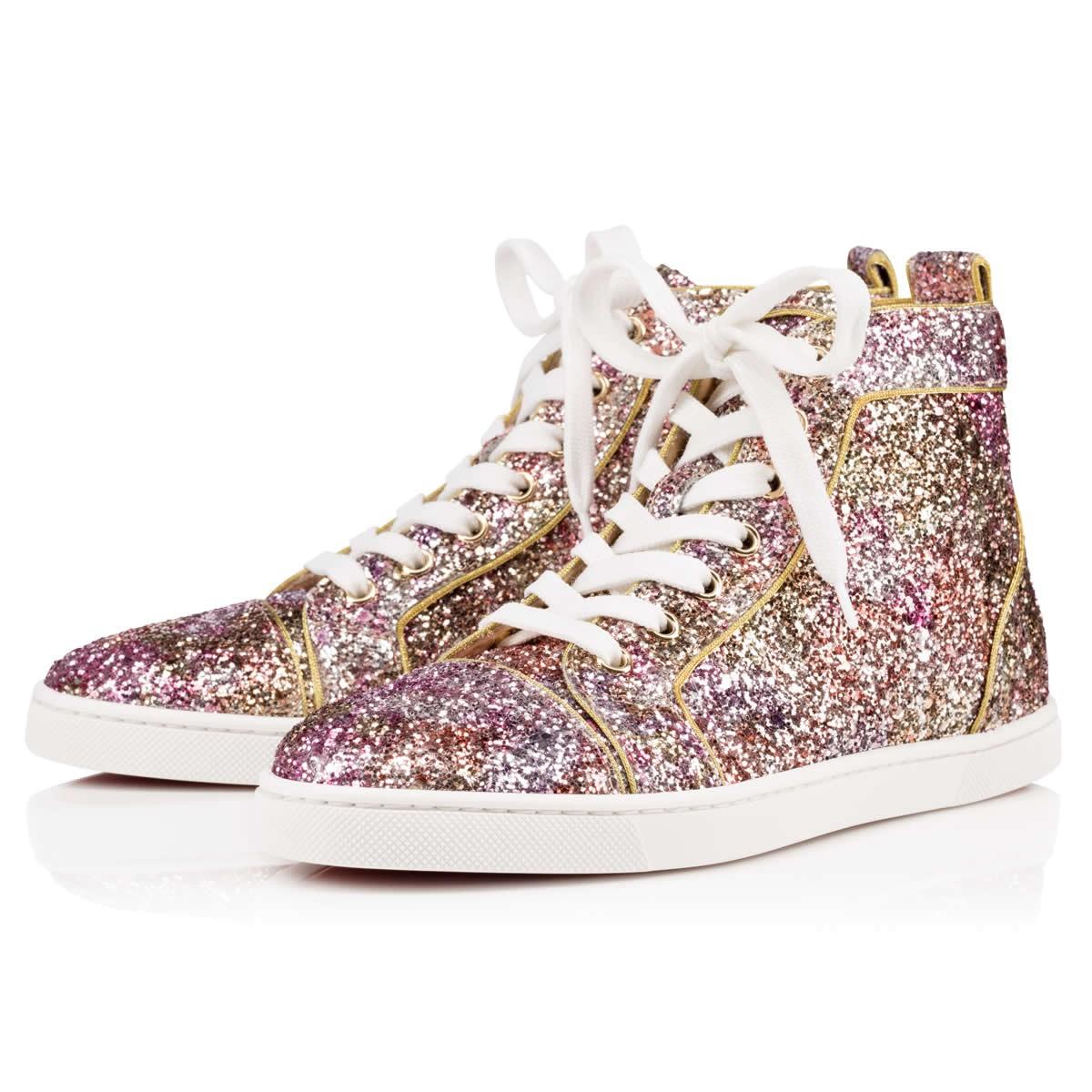 christian louboutin bip bip glitter sneakers
