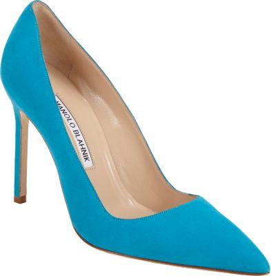 manolo blahnik bb pointy toe pump women cornflower blue modesens rh modesens com
