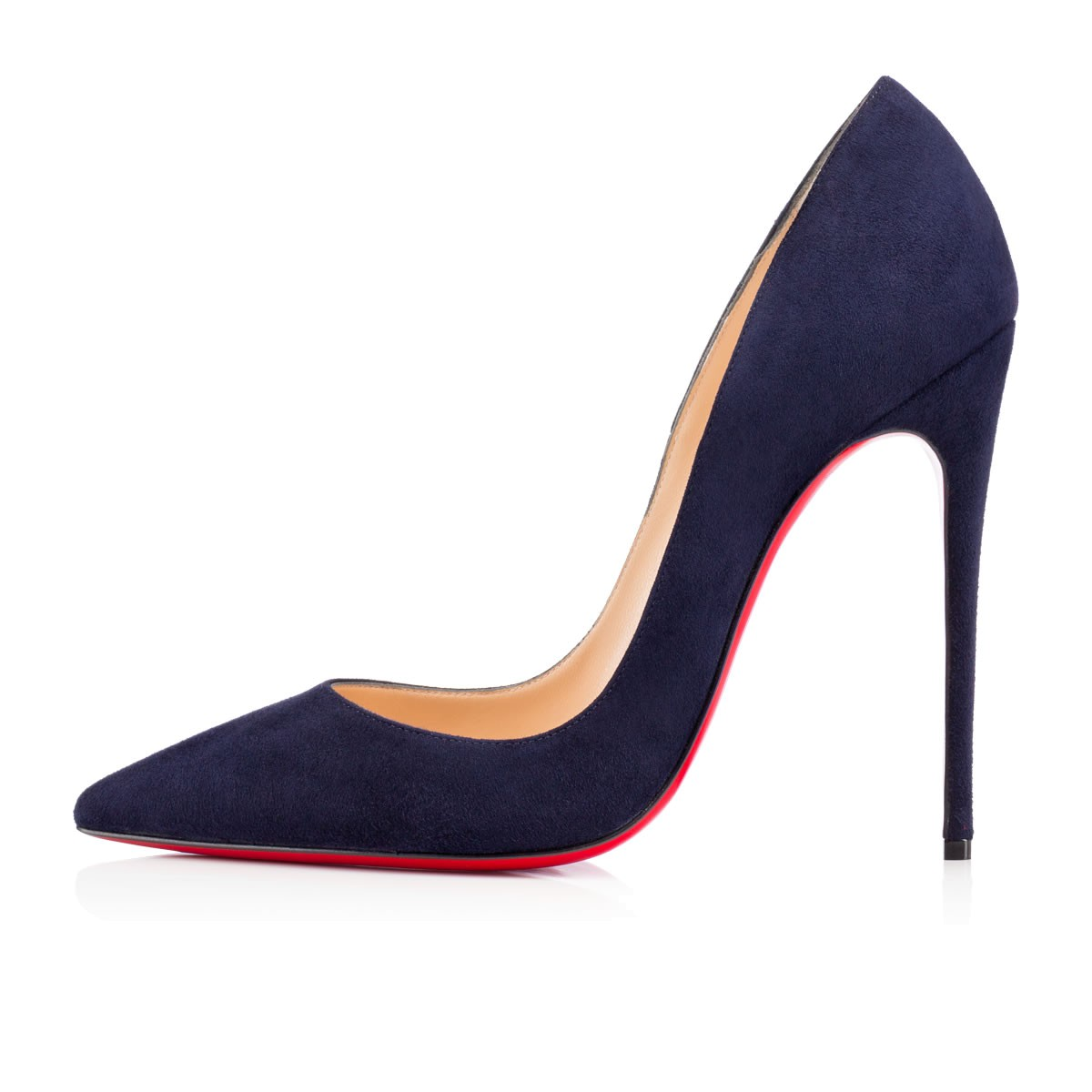 CHRISTIAN LOUBOUTIN Midnight Blue Suede 'So Kate 120' Stiletto Pumps in Navy