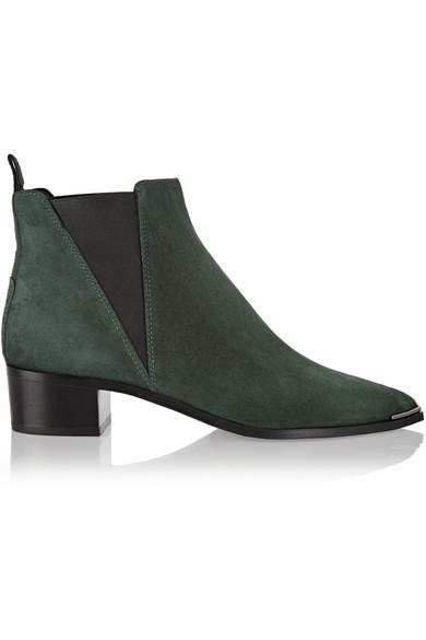 ACNE STUDIOS Jensen Pointy-Toe Ankle Boot, Black