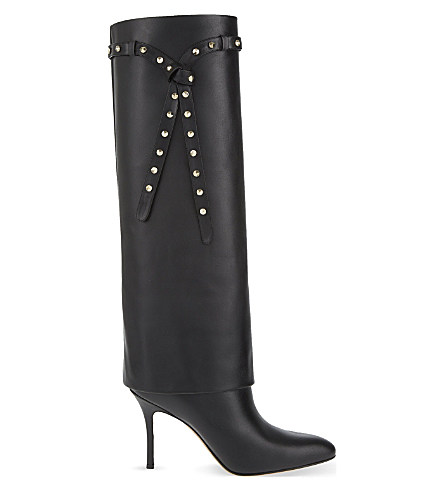 Punky-Ch Knee High Boot, Black