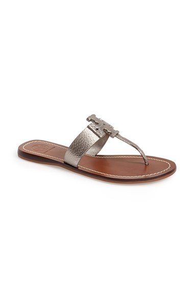 551834799d43f0 ... coupon code for tory burch moore leather thong sandal womennordstrom  exclusive in 3c1ab 39708