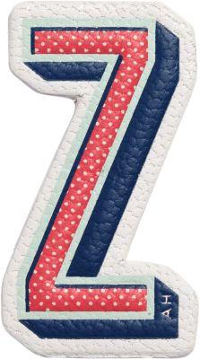 X Chaos Fashion 'Z' Alphabet Leather Sticker, Chalk