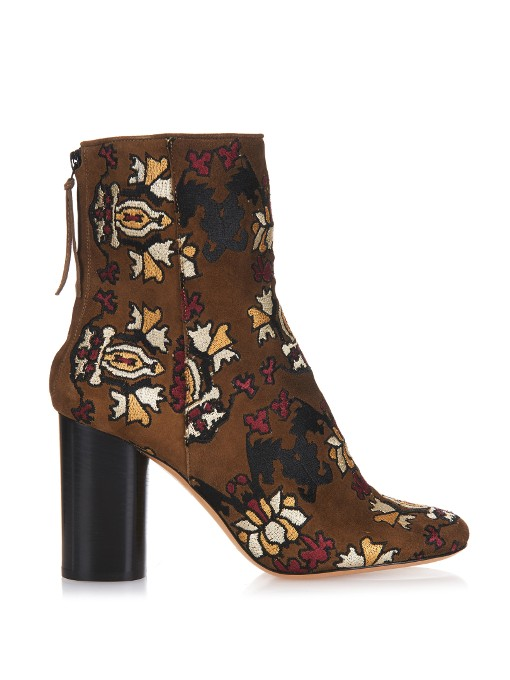 Isabel Marant Guya Embroidered Ankle Boots