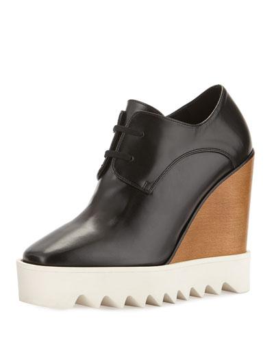 view cheap online Stella McCartney Vegan Leather Platform Oxfords discount shop top quality OVVg3qd