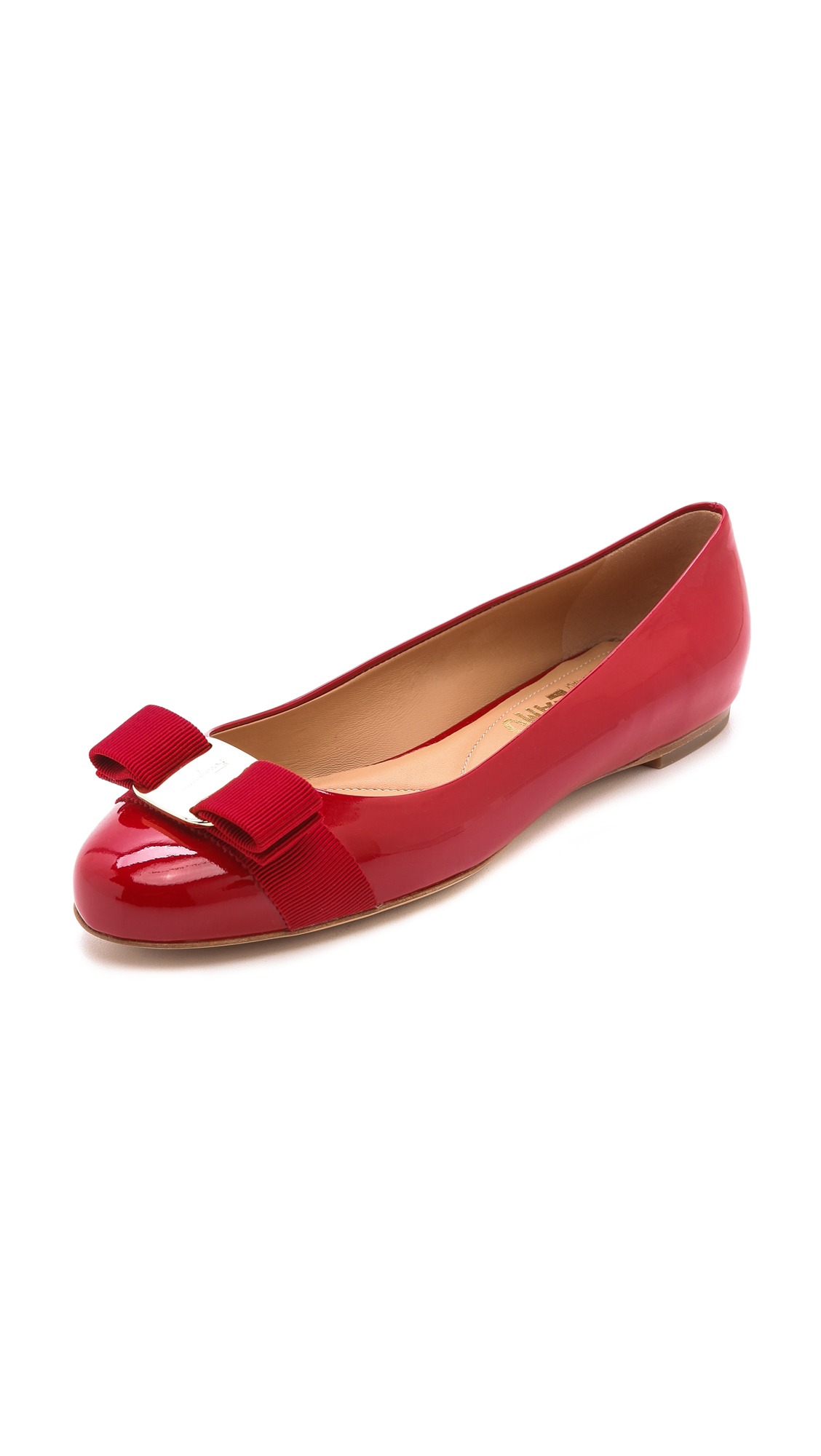 Varina Mini Patent Leather Ballet Flat, Toddler/Youth Sizes 10T-2Y, Rosso