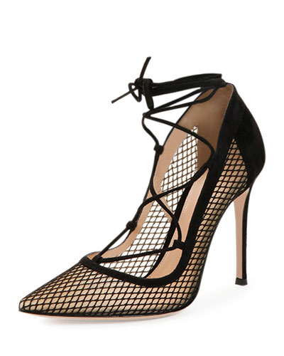 Gianvito RossiLace-Up Suede Sneakers dXnAY