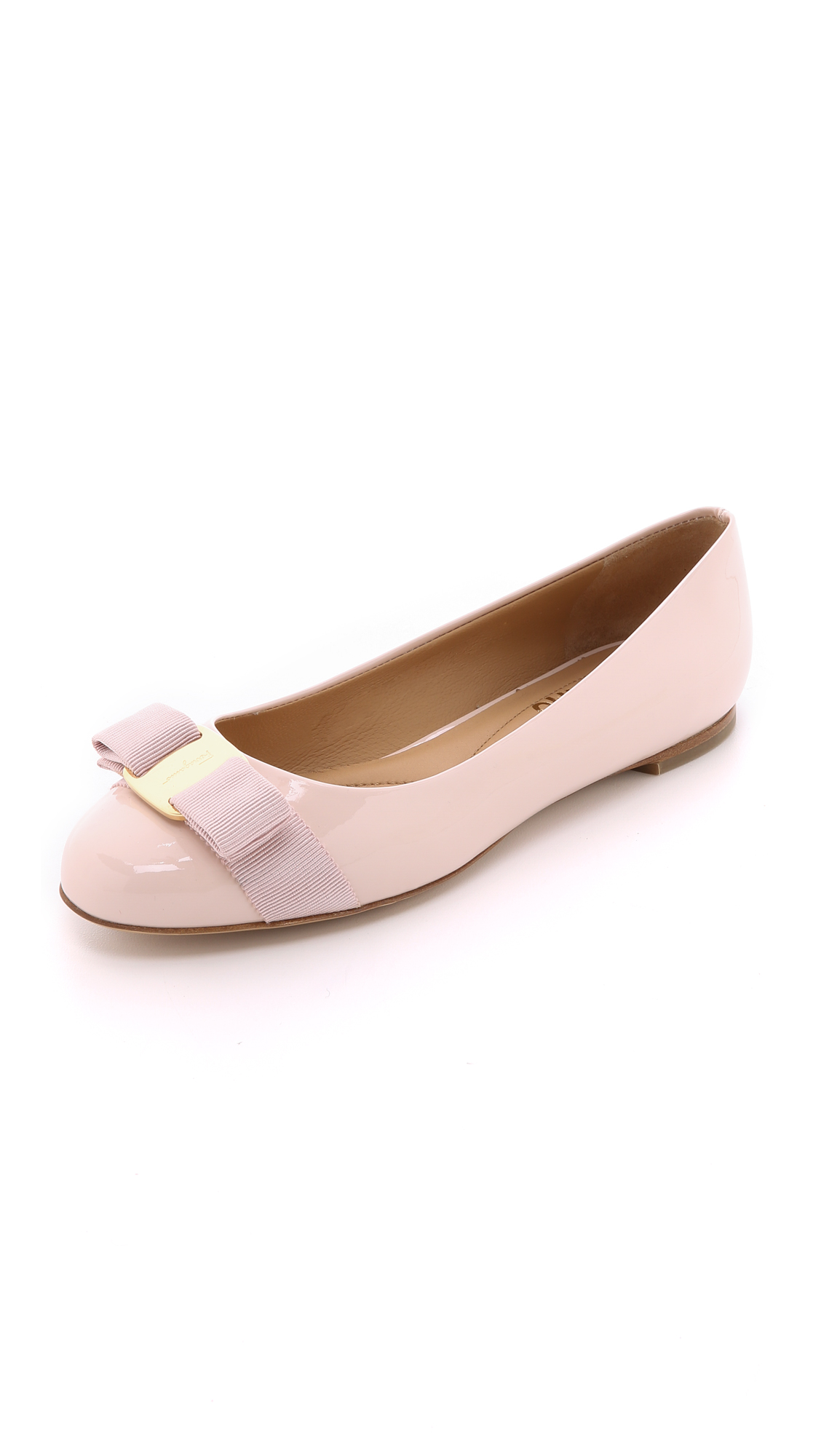 Varina Patent Leather Flats - Pink Size 8.5