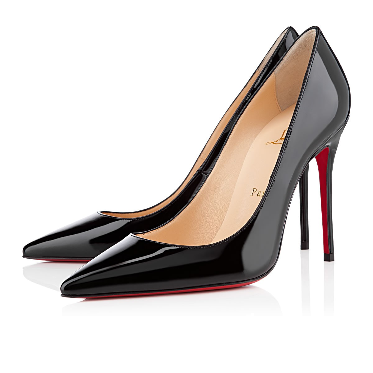 Pigalle Follies 85 Patent-Leather Pumps, Black from Christian Louboutin