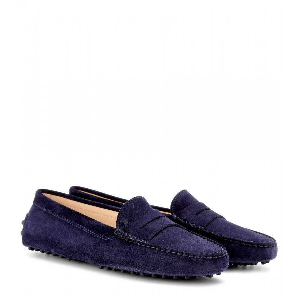 Gommini Suede Moccasin, Navy, Deeim Llue