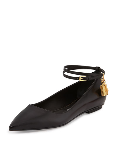 Cheapest Price Tom Ford Leather Pointed-Toe Flats Classic Cheap Price zUNpfU6