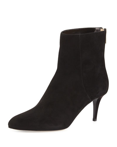 Duke 65 Black Suede Ankle Boots