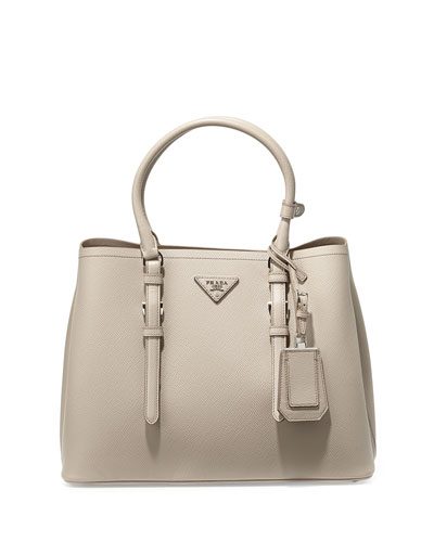 ba419ebe7165 ... release date prada saffiano cuir covered strap double bag gray pomice  0252f 1bbdb