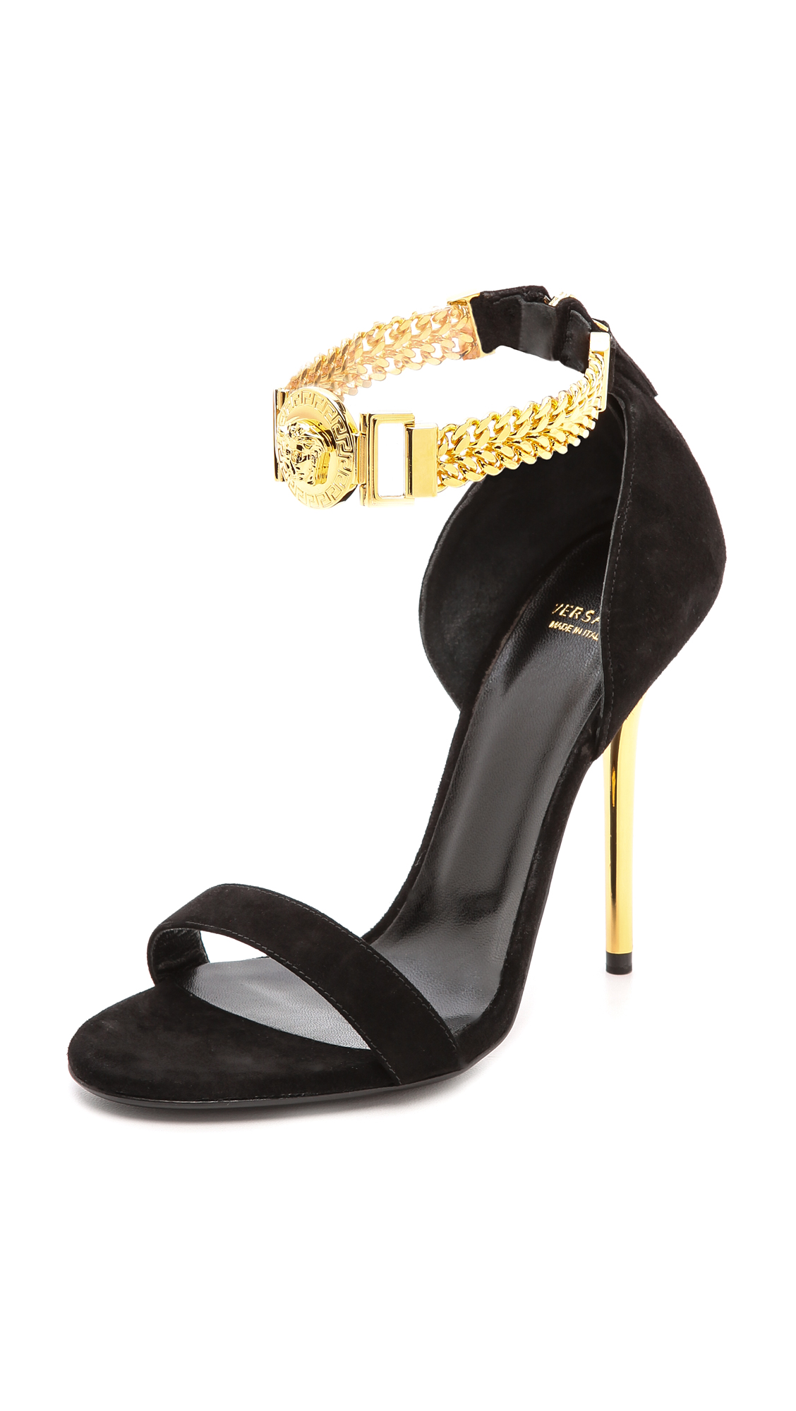 Versace Leather Ankle-Wrap Sandals free shipping prices 2015 cheap price low shipping online recommend sale online g3fusS1i