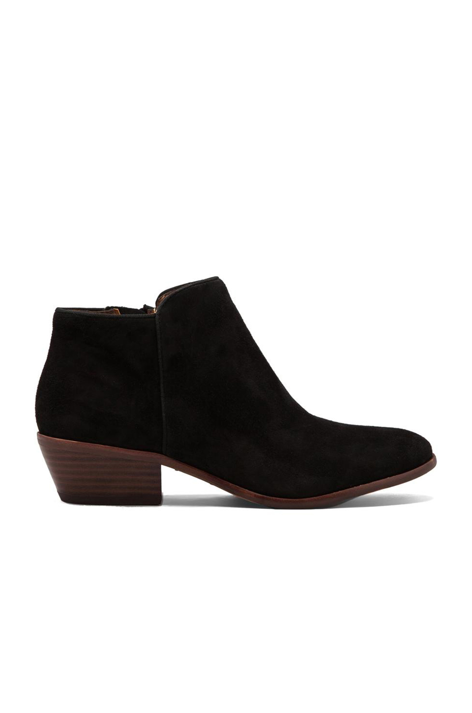 Petty Low-Cut Suede Ankle Boots, Black Suede