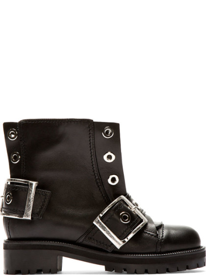 Alexander McQueen Leather Moto Booties Cheap Sast Outlet Discount Authentic Clearance Sast Discount Codes Clearance Store PZ0iX8T