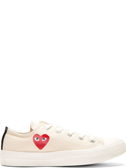 Comme Des Garcons Play Off-White Converse Edition Half Heart Chuck Taylor All-Star 70 Sneakers