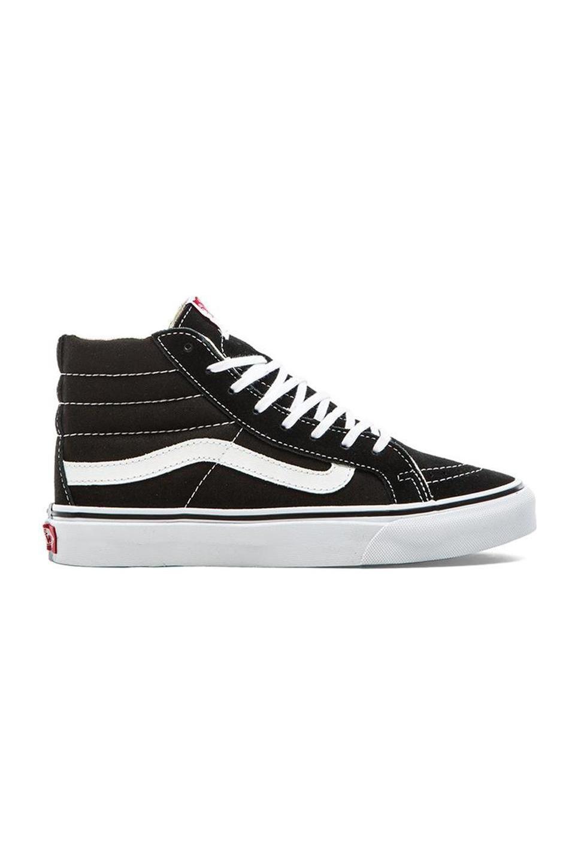 Unisex Sk8-Hi Suede Panelled Sneakers In Black, Black True White