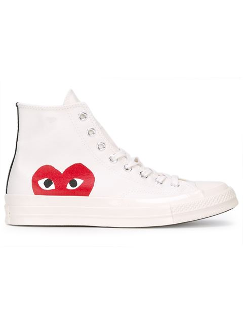 Comme Des Garcons Play Off-White Converse Edition Half Heart Chuck Taylor All-Star 70 High-Top Sneak
