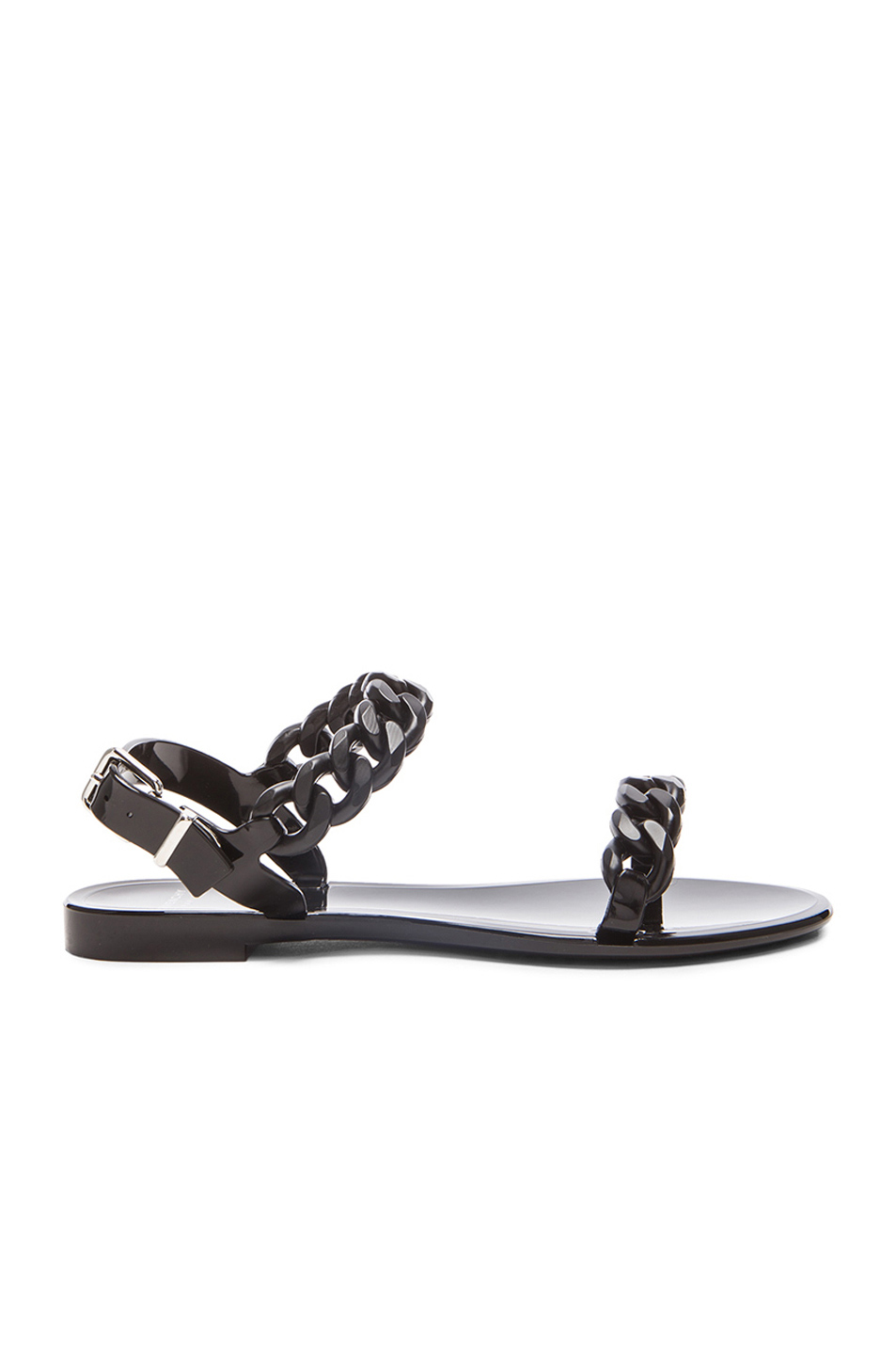 Chain Jelly Sandals, Black