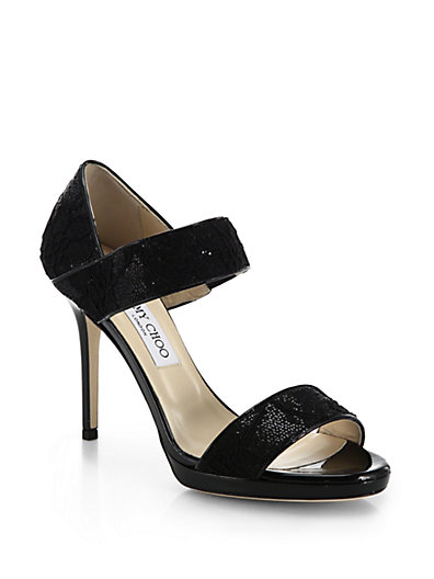 Jimmy Choo Alana Lace Sandals latest collections cheap price clearance in China SPpyFs