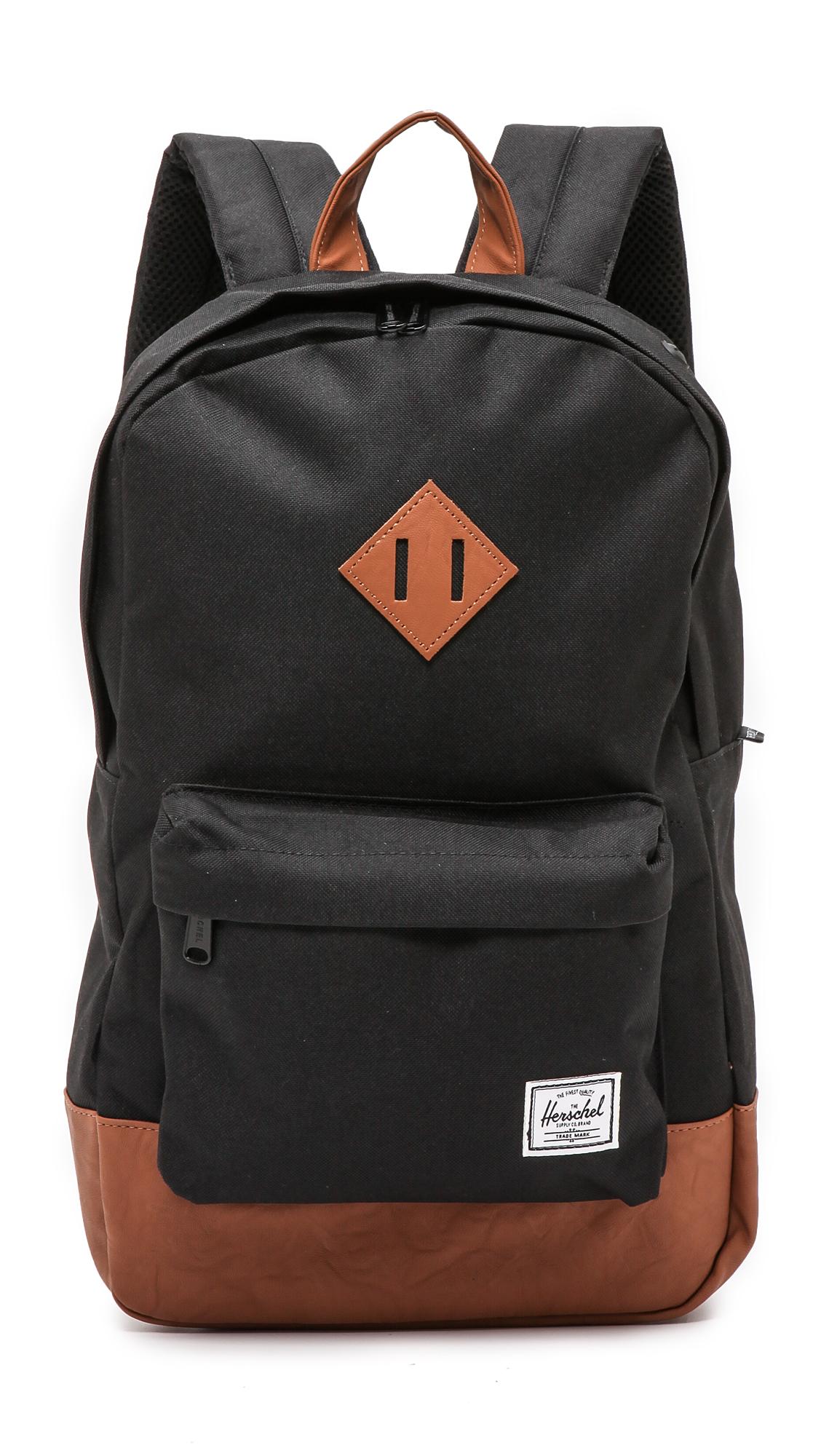 HERSCHEL SUPPLY CO. 'Heritage Mid Volume' Backpack in Black