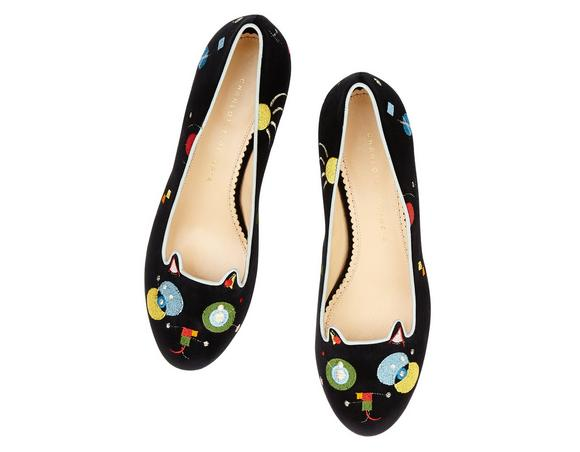Charlotte Olympia Abstract Kitty Flats The Cheapest Reliable Websites Online Newest For Sale uft60C2sfX