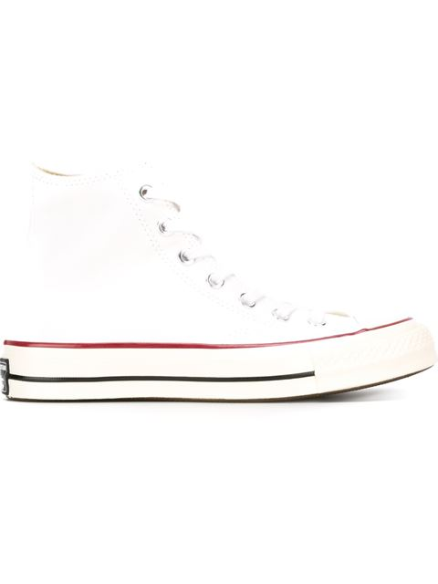 Chuck Taylor® All Star® 'Lux' Hidden Wedge High Top Sneaker (Women) in White