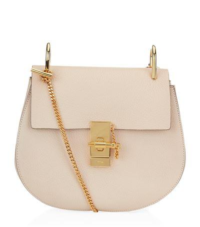 Mini Leather Drew Shoulder Bag In Neutrals.