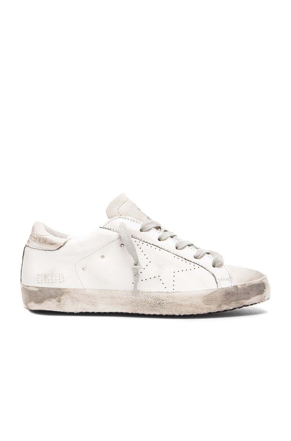 Superstar Distressed Leather Sneakers - White Golden Goose EobwZNy
