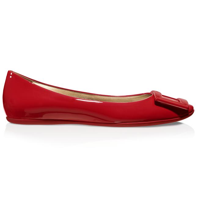 ROGER VIVIER Women'S Gommette Patent Leather Ballet Flat - Red, Size 40