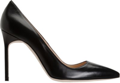 MANOLO BLAHNIK Bb 105 Leather Point Toe Pumps, Black