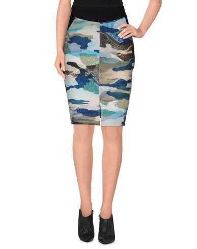 CAMEO Knee Length Skirt in Deep Jade