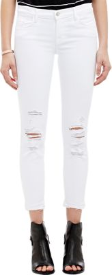 Low Rise Crop Jeans (Demented White Distressed)
