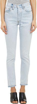 Originals High Waist Straight Skinny Stretch Jeans, Blue
