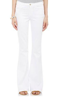 Le Forever Karlie Flare High-Rise Jeans, White