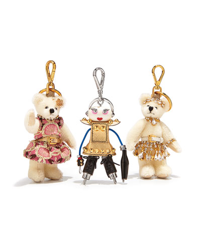 Prada Nancy Robot Charm, Pink/Gold (Platino)