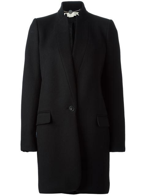 Bryce Single-Breasted Wool-Blend Coat, Black