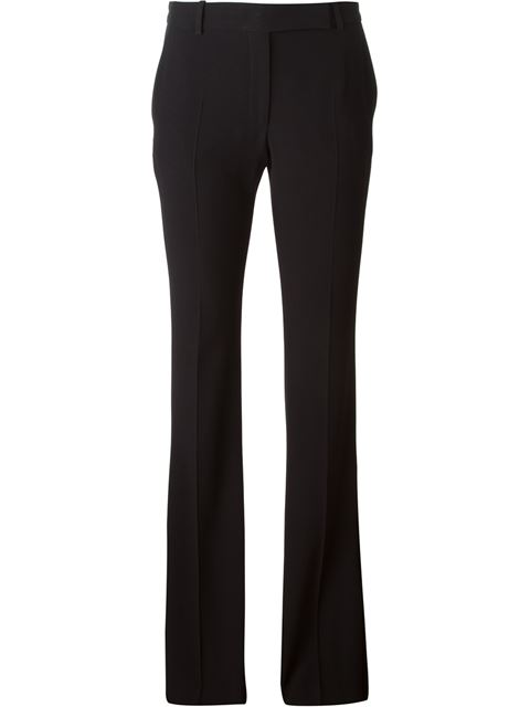 Kick-Flare Wool-Blend Cropped Trousers, Black