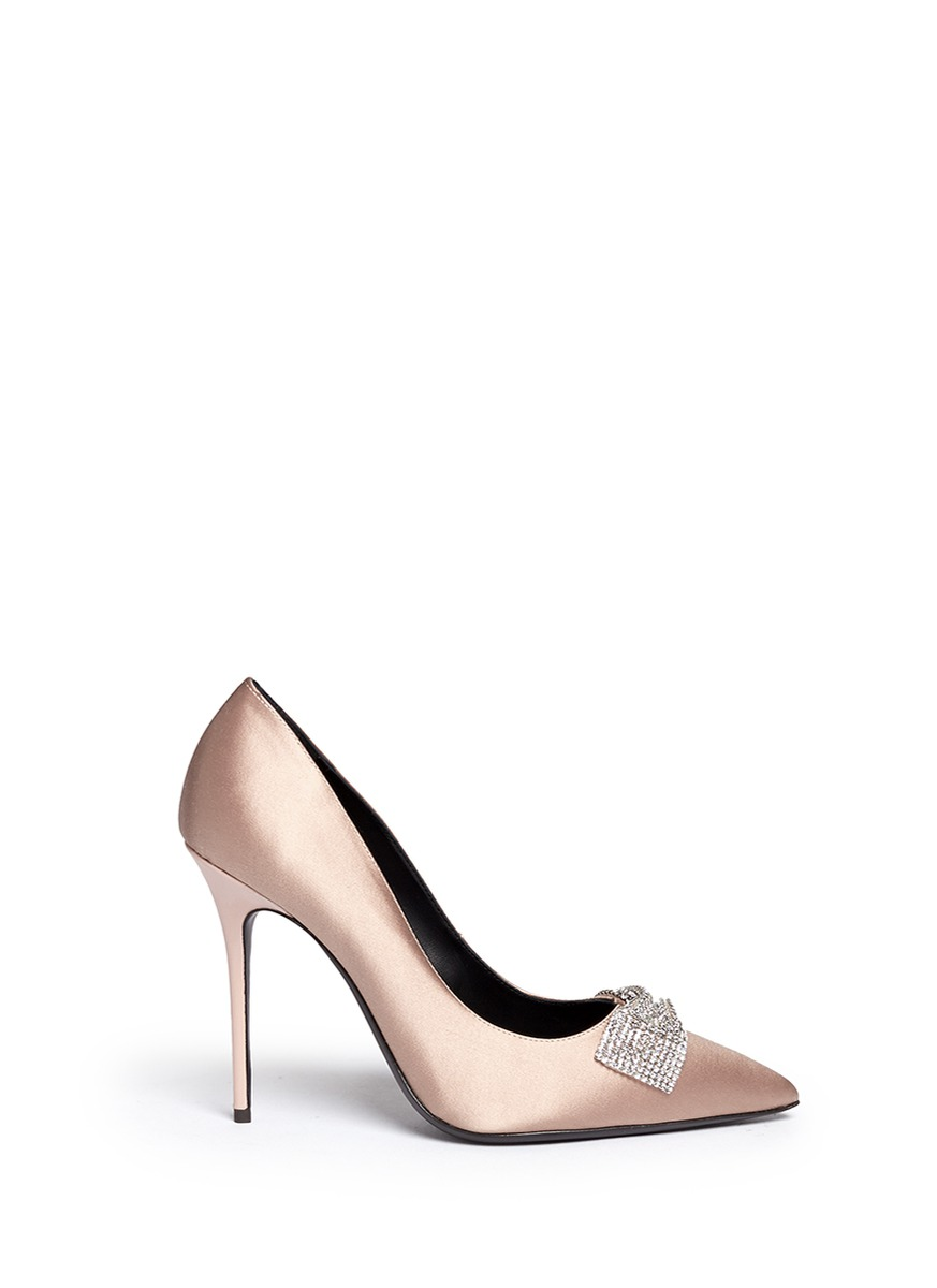 Giuseppe Zanotti Strass Satin Pumps Sale Big Discount Nicekicks Cheap Price Outlet With Paypal Order Great Deals qhqFVnLFaa