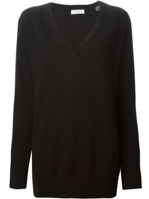 Asher Back Cut-Out Wool & Cashmere Sweater in Black