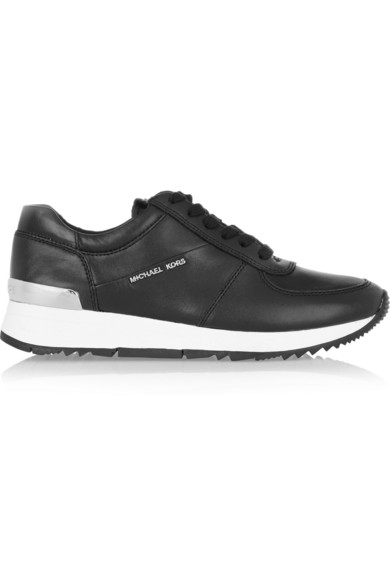 Alison Leather Sneakers in Black