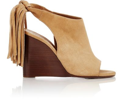Chloé Suede Fringe-Trimmed Wedges clearance pictures QHGnvWF48