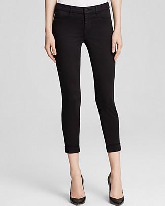 Jeans - Luxe Sateen Anja Cuffed Crop In Black