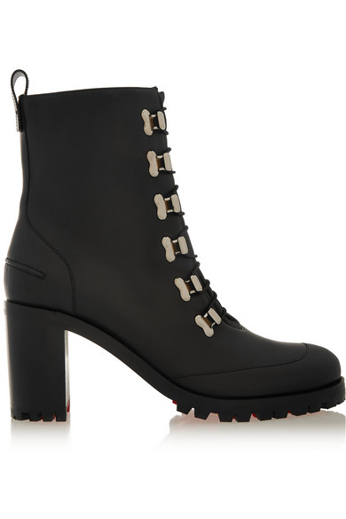CHRISTIAN LOUBOUTIN Country Croche Booty 70Mm Black Calf in Black/Silver