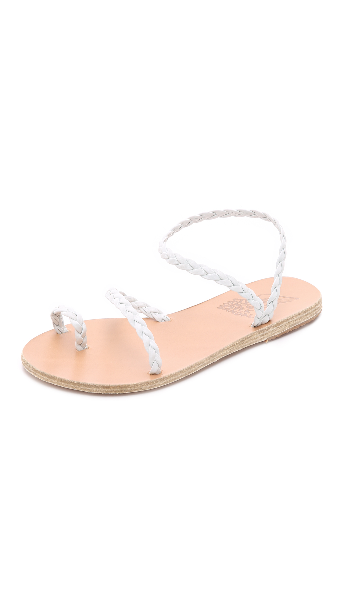 braided Eleftheria strappy sandals - White Ancient Greek Sandals Outlet The Cheapest Discount New Styles Cheap Sale Wide Range Of Discount Buy hRTsgzD