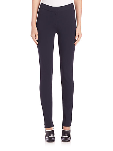 Hanne Matte Jersey Leggings - Navy Size 40 It in Blue