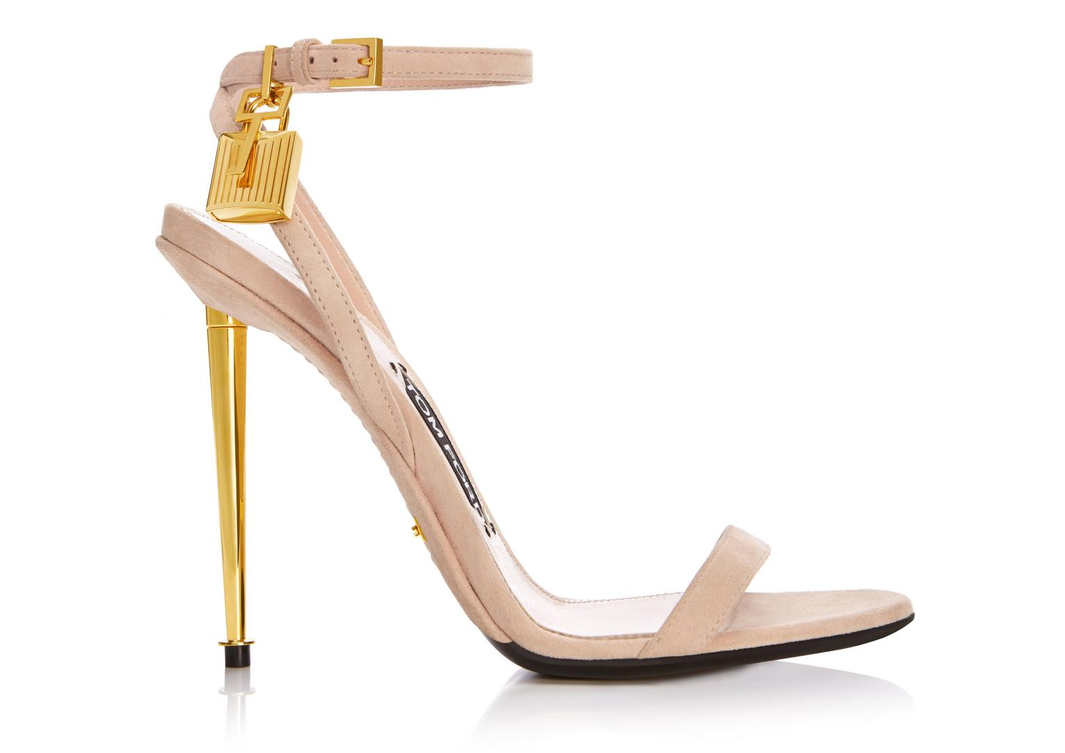 cheap pay with paypal Tom Ford Suede Padlock Sandals with credit card online free shipping comfortable LeGbGA