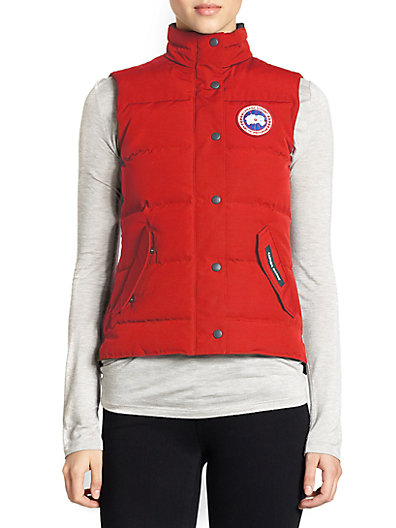 'Freestyle' Slim Fit Down Vest (Online Only) in Red